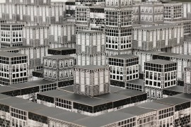 Virtual City: 1000 8.3 x 8.3 x 2.5 ft 1000 screen-printed cubes 2016